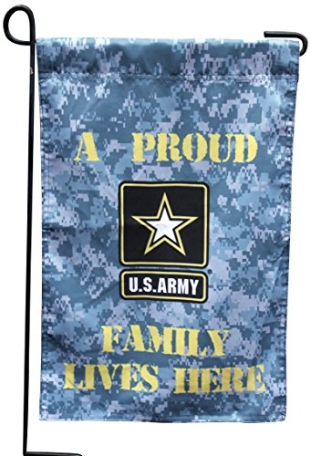 U.S. Army Proud Family Lives Here 13x18 Garden Flag and (Family Garden)