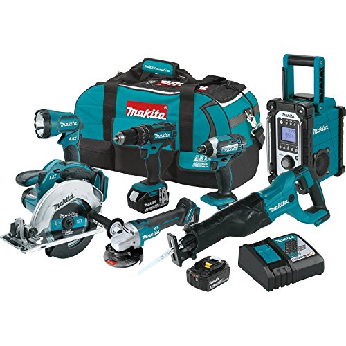 Makita XT704 18V LXT Lithium-Ion Cordless 7-PC. Combo Kit (3.0Ah) ()