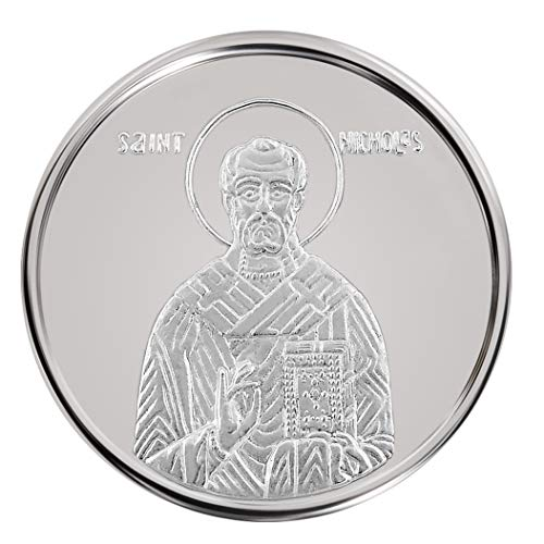 Conmemorativo-Moneda-Religiosa-Medalla-de-plata-San-Nicolas-16-mm-30-g-110-oz