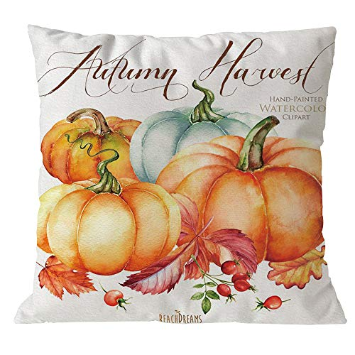 Throw Pillow Covers, E-Scenery Clearance Sale! Halloween Pumpkin Square Decorative Throw Pillow Cases Cushion Cover for Sofa Bedroom Car Home Decor, 18 x 18 Inch (E)