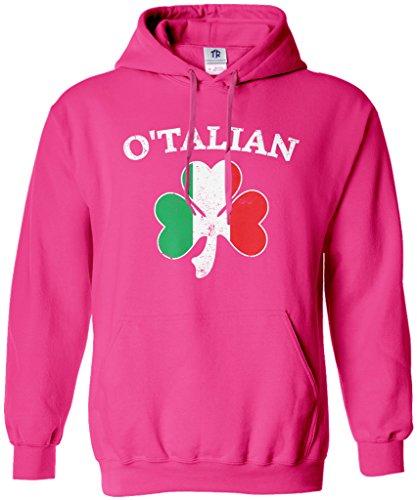 Threadrock O'Talian Italian Irish Shamrock Unisex Hoodie Sweatshirt M Hot ()