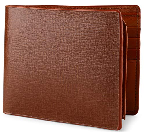Wallet for Men Italian Leather RFID Blocking Bifold Stylish Wallet With 2 ID Window,gallon brown