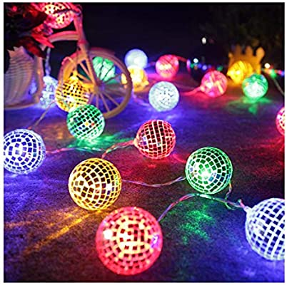 AceList 20 LED Disco Ball LED Party Light String Decorative Lanterns for  Holiday Wall Window Tree Decorative Party Yard Garden Kids Bedroom Living  ...