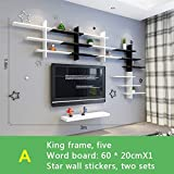 ALUS- Wall shelf wall hanging, creative partition living room TV wall decoration rack, shelf bedroom lattice ( Style : A )