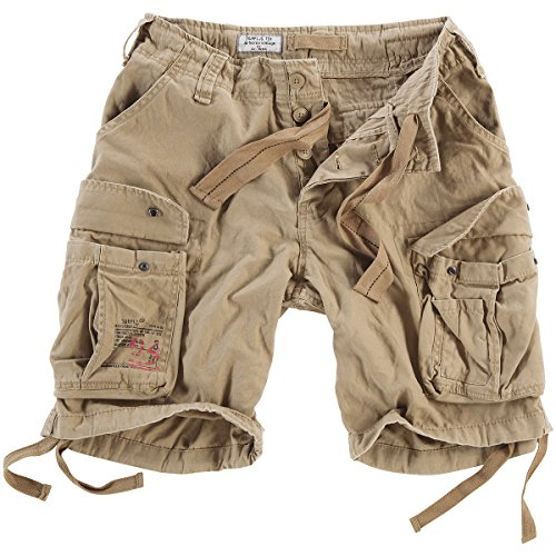 Surplus Men's Airborne Vintage Shorts Washed Beige Size M