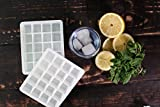 Cozy Home Silicone Ice Trays, 20 Cube, Set of 2, White
