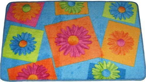 - Crazy Daisy Carved Bath Mat Rug Skid Resistant 19.7x31.5 Inches