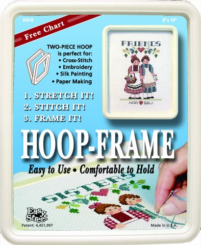 "Square Embroidery Hoop (Easy Street Crafts 8 by 10-Inch ""Square"" Hoop-Frame for Stitching and Framing)"