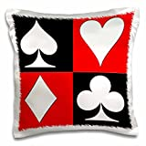3dRose pc_218680_1 Poker. Four of A Kind. Aces. Popular image pillow Case, 16 by 16''