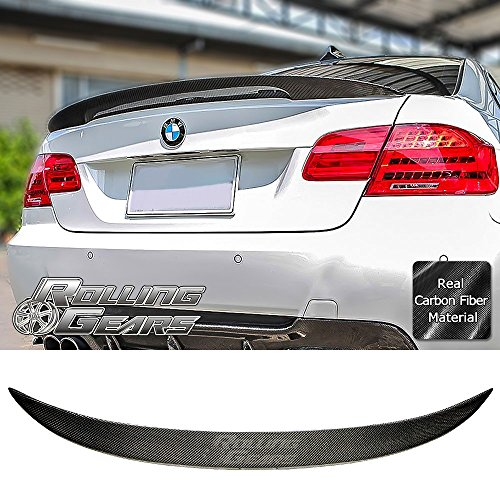 (Rolling Gears E92 Carbon Fiber Trunk Spoiler for E92 and M3 2-Door Coupe 2007-2013, Performance Style )