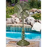 "50"" Extravagant ""Dynasty"" Green Adjustable Oscillating Outdoor Standing Fan"