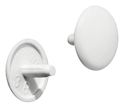 gedotec - Tapas de muebles redondo Tornillos de cubierta plástico ...