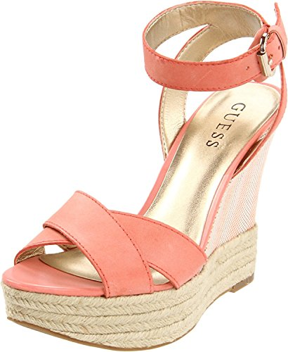 Guess Ankle Strap Sandals (GUESS Women's Kambria Platform Wedge Ankle Strap Sandal, Multicolor, Size 9.5)