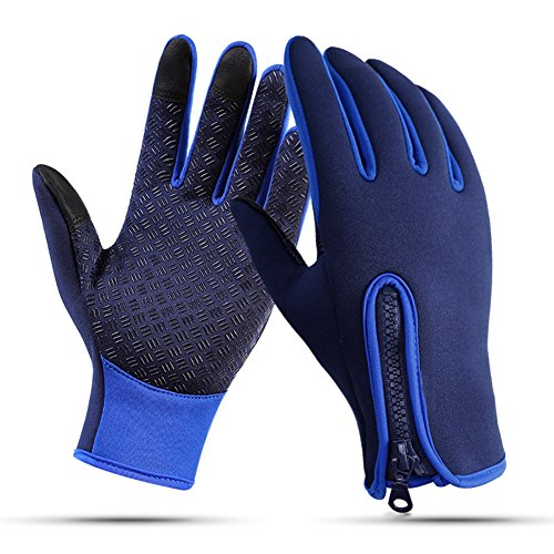 Nurbijar Winter Gloves Touch Screen Adjustable Thermal Warm Outdoor Cycling Gloves for Man and Woman (Adjustable Gloves)