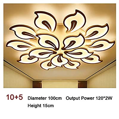 Bauhinia-Shaped Stepless Dimming Led Remote Control Ceiling Light Modern Acrylic Creative Personality Living Room Bedroom Lamp