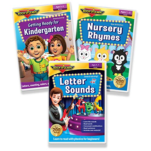 (Early Literacy DVD Collection - Letter Sounds Phonics for Beginners, Getting Ready for Kindergarten, Nursery Rhymes)