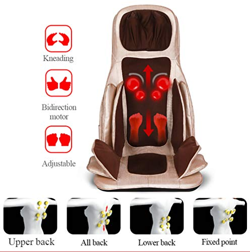 Massage Chair Cushion Thai Step Massage and Heating for Upper,Lower Back,Lumbar and Waist Used to Relieve Fatigue Use at Home,Car,Office,Gray (Shiatsu Thai Mat Massage)