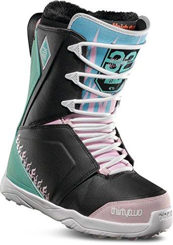ThirtyTwo Lashed Melancon Women's '18 Snowboard Boots, Black/Pink/Green, 9