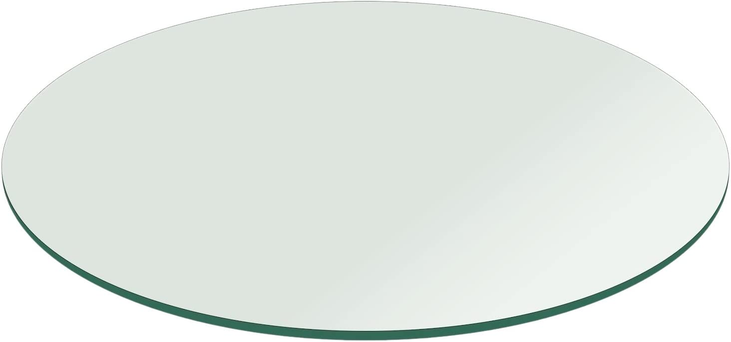 "22"" Inch Round Glass Table Top 1/4"" Thick Flat Polish Edge Tempered by Fab Glass and Mirror 51xMbd63vIL"
