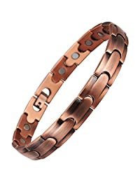 VITEROU Unisex Magnetic Pure Copper Therapy Anklet for Arthritis Pain Relief 3500 Gauss,11 Inches
