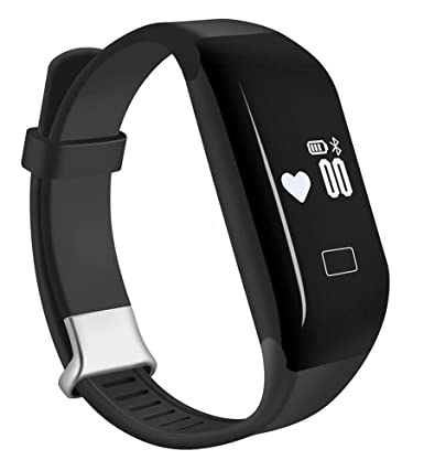 Pard Kids Fitness Tracker, Bluetooth 4.0 Heart Rate Monitor Smart Bracelet for Android iOS Smartphone, Black