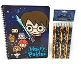 Harry Potter School Supplies Spiral Notebook and Pencils-2 Piece Set