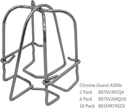Happy Tree (6 Pack) Fire Sprinkler Head Guard Cage Chrome Plated for 1/2 IPS Head-Double Hook by Happy Tree (Image #1)