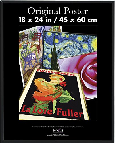 MCS 23834 18x24 Original Poster Frame in black with Pressboard back and Styrene Glazing