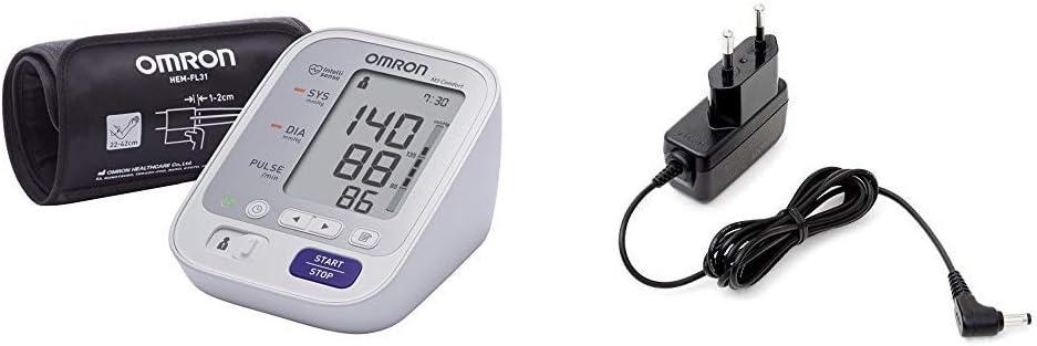 OMRON M3 Comfort - Tensiómetro de brazo, tecnología Intelli Wrap Cuff + Adaptador de corriente AC para tensiómetro M2, M3, M6, M7 y inhalador C803
