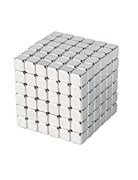 3mm Magnetic Cube Puzzle Prime Quality Fidget Toys Fidget Cube, 216 Pieces. Ideal Office Stress Relief Executive Desk Toy. Magic Metal Square Fidget Magnets Cool Gadget.