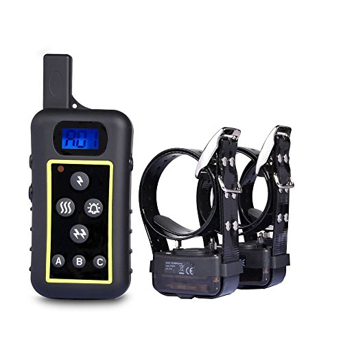 JANPET Hunting Dog Equipment Outside Remote Control 2000m Hunting Dog Training Collars Electric Static Shock Vibration Pet Dog Trainer 100 Waterproof E-Collar Training up to 3 Dogs