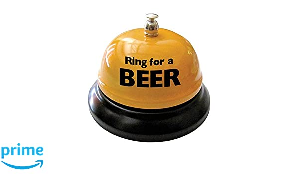 Ring For Beer Table Bell Brew Ail Lovers Bar Bachelor Birthday Party Gag Gift