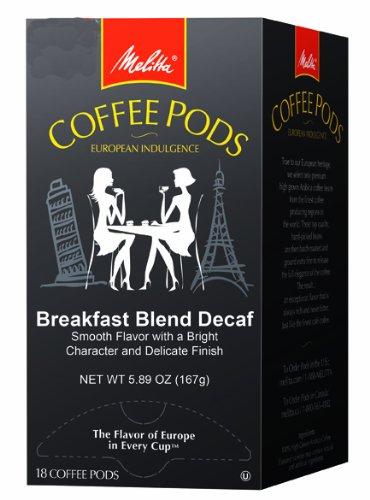 Breakfast Blend Decaf, Light Roast, 18-Count (Pack of 4) (Breakfast Blend Pods)