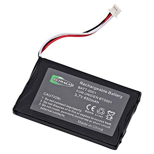 Uniden DMX-776 Cordless Phone Battery Li-Ion, 3.6 Volt, 900 mAh - Ultra Hi-Capacity - Replacement for Uniden BT-001, BBTY0531001 fits DX770, DMX-776 Rechargeable Battery