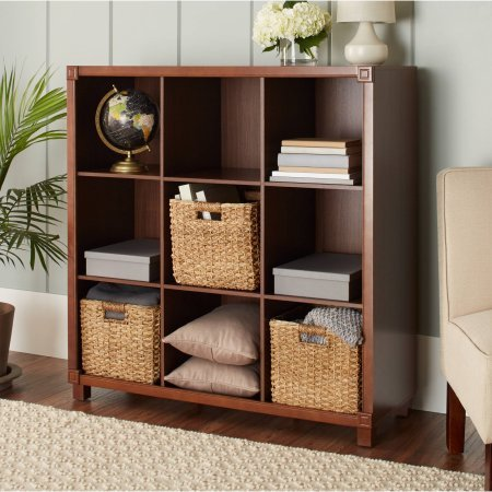 10 Spring Street Burlington 9-Compartment Organizer, | Good Quality And (Walnut) - Maple Office Media Storage