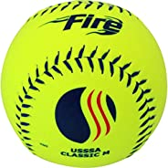 """Baden USSSA Classic M Synthetic Cover Slowpitch Softball 12"""" (One D"""