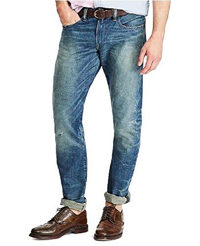 Polo Ralph Lauren Men's Sullivan Slim Fit Cotton Denim Jeans (Traverse, 36x30) - Lauren Cotton Belt