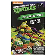 Teenage Mutant Ninja Turtles 32 Valentine Cards with Tattoos