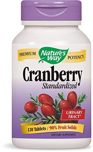 Serving 90 Capsules (Nature's Way Standardized Cranberry; 90% Fruit Solids per serving; Gluten Free; Vegetarian; 120 Vegetarian Capsules)