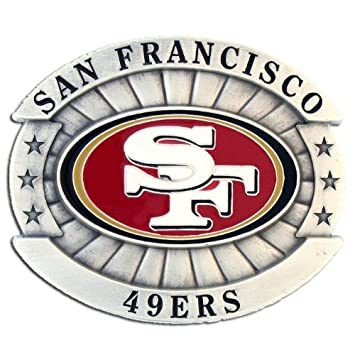 fb58f684 Amazon.com : San Francisco 49ers Oversized NFL Belt Buckle : Sports ...
