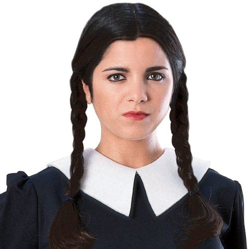 [The Addams Family Wednesday Wig Adult] (The Addams Family Wednesday Costumes)