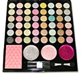 Amuse 48 Eye Shadow 3 Glitter Eye Shadow 1 Blusher Makeup Set Palette With Mirror And Applicators