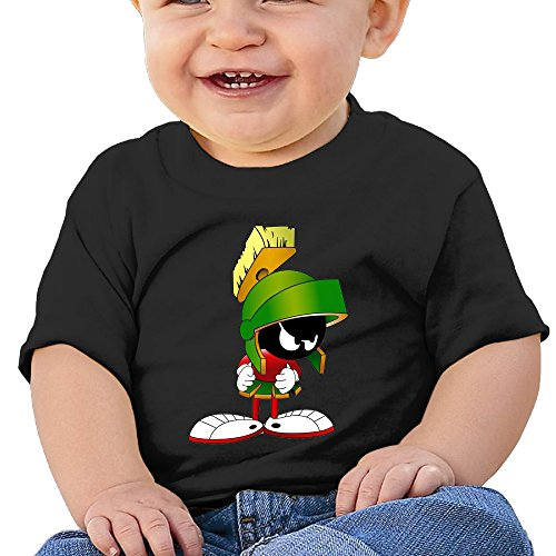 [DVPHQ Baby's Marvin The Martian Comic Movie Tee Little Unisex Black Size 24 Months (6-24 Months)] (Looney Tunes Martian Costume)