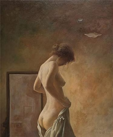 Painting of a nude girl