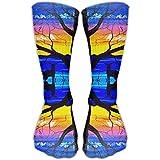 Women's Men's Classics Socks Deer Sunset Lake Athletic Stockings 30cm Long Sock One Size
