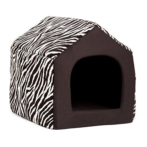 Best Friends by Sheri 2-in-1 Pet House-Sofa in Zoo, Zebra Cream, Medium, 17
