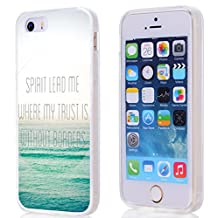 Case for Iphone 5s Bible Verses, Apple Iphone SE / 5 Case Christian Quotes Theme Spirit Lead Me Where My Trust Is Without Borders