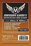 Brown Backed, 7 Wonders Copper Card Sleeve (65x100mm) - 100 Standard