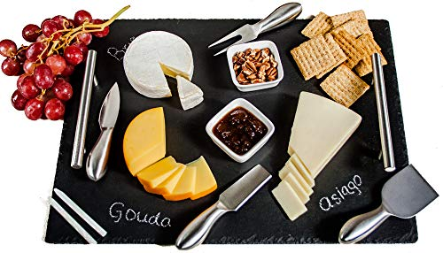 Slate Cheese Board Set | 9 pcs - 16
