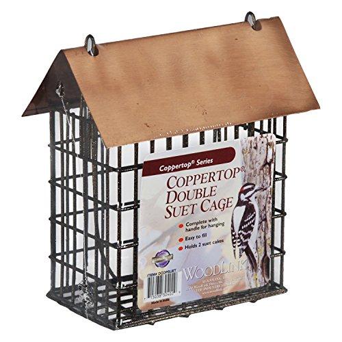 Woodlink DCOPSUET Coppertop Double Suet Cage Feeder ()